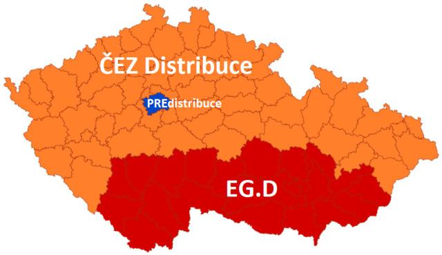 Distribuční soustava (území, regiony) elektřiny