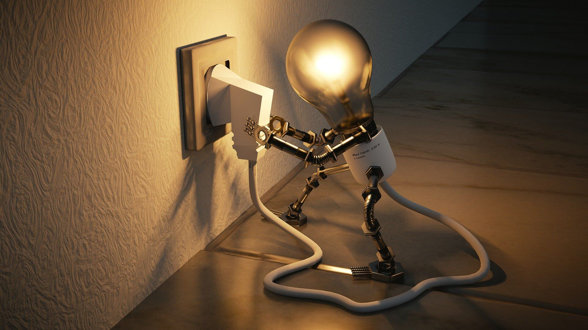 Cena kWh a MWh elektřiny - žárovka