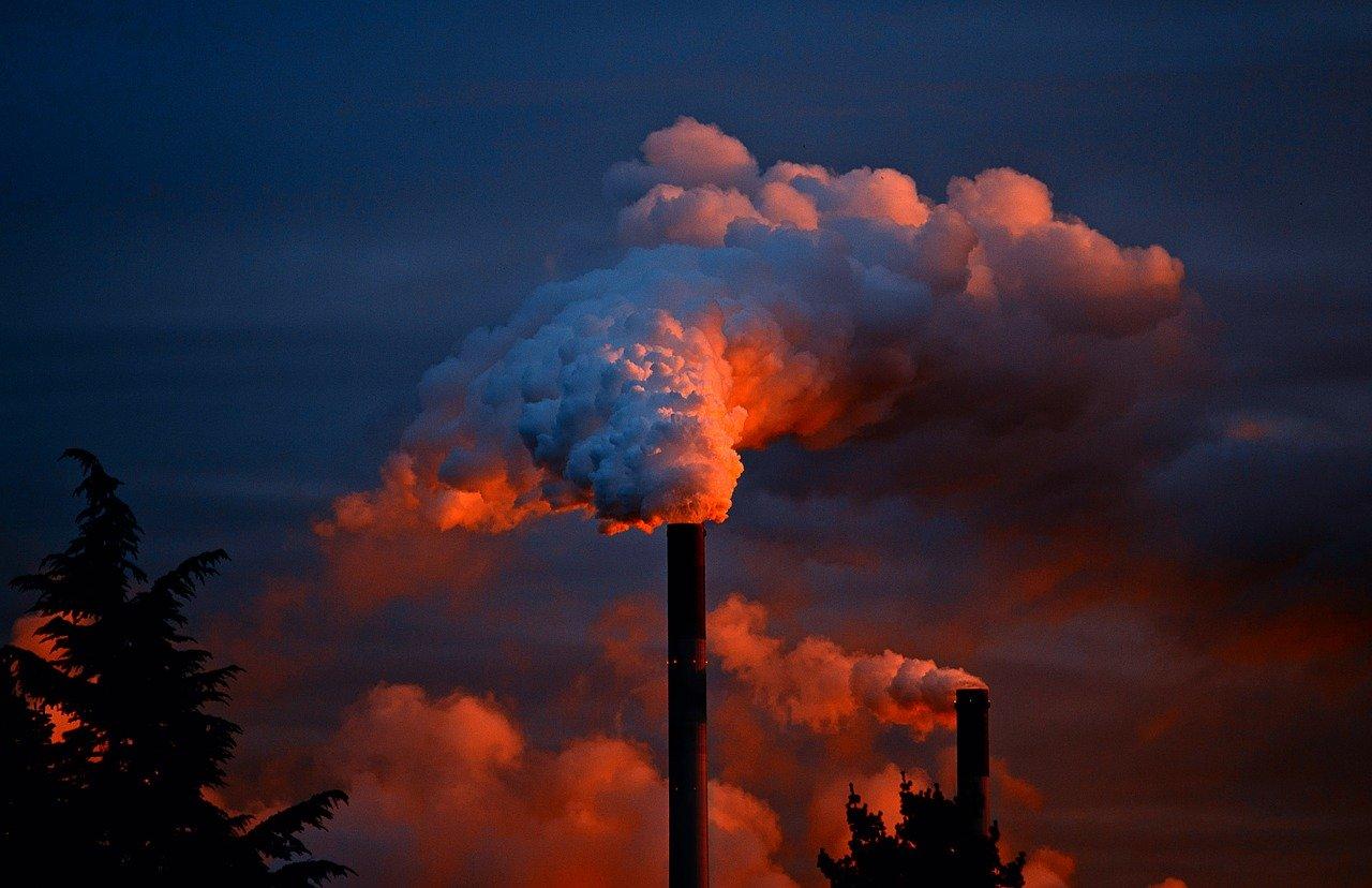 Průmyslové exhalace, skleníkové plyny, oxid uhličitý