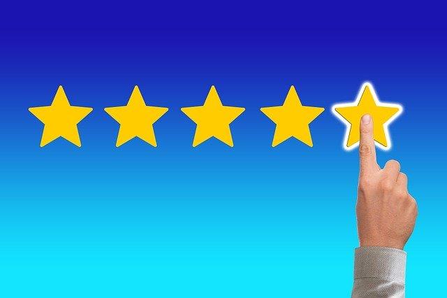 Hodnocení dodavatelů elektřiny a plynu pomocí hvězdiček