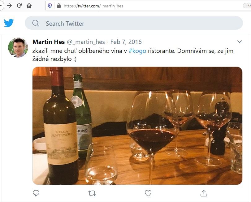 Martin Hes na Twitteru