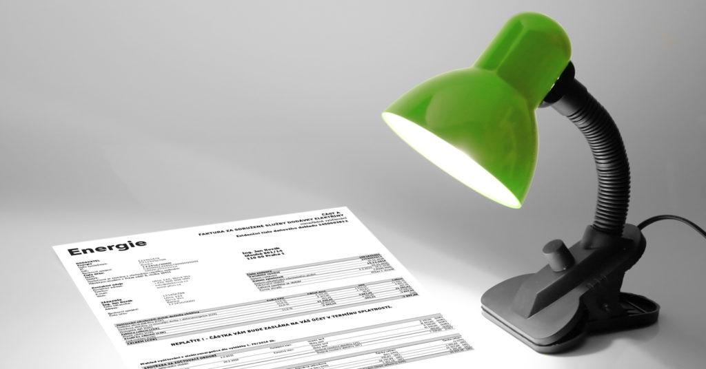 Lampička, účet za elektřinu